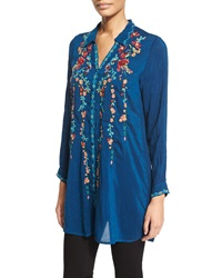 Johnny Was Ivy Embroidered Long Sleeve Tunic Women's