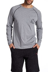 Tommy Bahama Solid Long Sleeve Jersey Tee Gray
