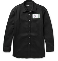 Raf Simons Robert Mapplethorpe Foundation Appliqued Denim Overshirt Black