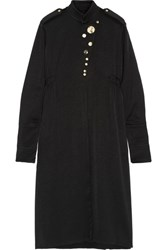 Ellery Holy Unholy Embellished Satin Crepe Dress Black