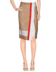 Schumacher Skirts Knee Length Skirts Women Sand