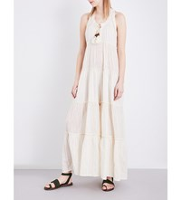 Free People Beach Bum Cotton Blend Jumpsuit Ivory