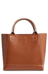 Trademark Trapezoid Leather Tote