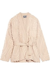 Maiyet Belted Wool Jacquard Jacket Beige