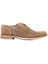 Officine Creative Ideal 23 Woven Shoes Men Calf Leather 41 Nude Neutrals