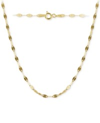 Giani Bernini Twisted Chain Link Necklace In 18K Gold Plated Sterling Silver Created For Macy's
