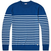 Armor Lux 71926 Heritage Stripe Knit Marie Galante And Milk
