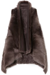 Karl Donoghue Reversible Shearling Gilet Dark Brown