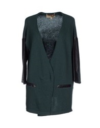 Space Style Concept Cardigans Dark Green
