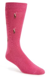 Polo Ralph Lauren Men's Logo Socks Bright Pink