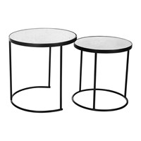 Amara Round Table With Glass Top Set Of 2