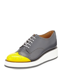 Cap Toe Perforated Leather Oxford Overcast The Office Of Angela Scott