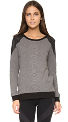 Michi Melano Sweatshirt Croc Grey