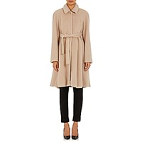 Cacharel Women's Belted Swing Coat Nude Size 0 Us