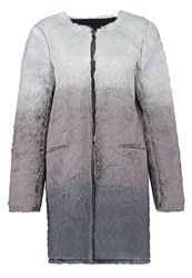Eleven Paris Pray W Short Coat Dye Black Grey