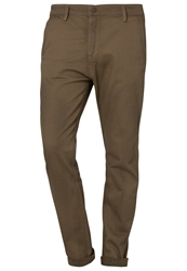 Meltin Pot Ebert Slim Fit Jeans Stripe Print Beige