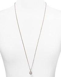 T Tahari Crystal Pave Ball Necklace 32 Silver