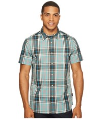 The North Face Short Sleeve Passport Shirt Mid Grey Plaid Men's Short Sleeve Button Up Gray