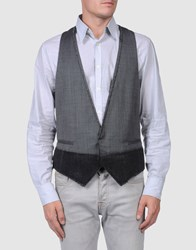 Cnc Costume National Costume National Homme Suits And Jackets Waistcoats Men Steel Grey