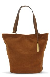 Vince Camuto Suza Leather Tote Brown Pumpernickel