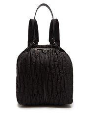 The Row Backpack 11 Quilted Nylon Backback Black
