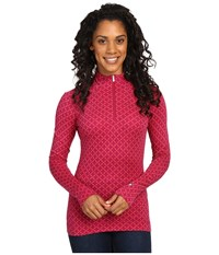 Smartwool Nts Mid 250 Pattern Zip Top Berry Heather Women's Long Sleeve Pullover Pink
