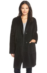 Women's Eileen Fisher Kimono Sleeve Knee Length Wool Blend Coat