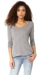 L'agence Long Sleeve Tee Heather Grey