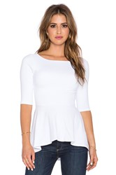 Susana Monaco Low Back Flare Top White