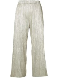 Alice Olivia Pleated Shift Trousers Metallic