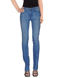 Paul And Joe Denim Denim Trousers Women Blue