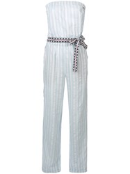 Lemlem Nefasi Striped Jumpsuit Blue