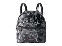 Sakroots Mini Crossbody Backpack Metallic Songbird Backpack Bags Black