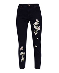 Ted Baker Willahe Embroidered Jeans Black