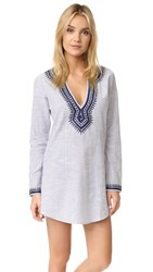 Thayer Star Tunic Navy Embroidery