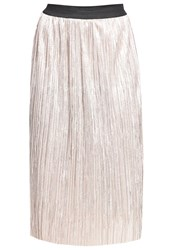 Wal G G. Pleated Skirt Champagne Bronze