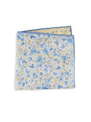 Saks Fifth Avenue Silk Floral Pocket Square Yellow