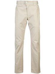 Julien David Straight Leg Trousers Nude And Neutrals