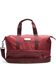 Adidas By Stella Mccartney Logo Tag Perforated Tote Burgundy