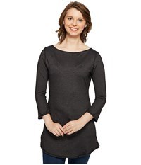 Independence Day Clothing Co Reversible Boat Neck Tunic Heathered Charcoal Women's Blouse Black
