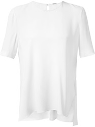 Adam By Adam Lippes Adam Lippes High Low Hem Blouse White