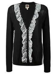 I'm Isola Marras Polka Dot Ruffle Cardigan Black