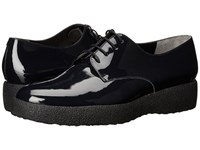 Robert Clergerie Feydol Navy Patent Women's Lace Up Casual Shoes Blue