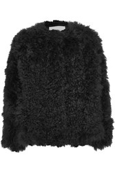 Karl Donoghue Shearling Coat Black
