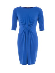 Lavand Jersey Dress With Gathered Effect Blue