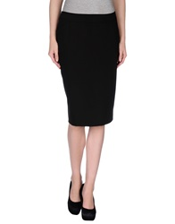 Lupattelli Knee Length Skirts Black