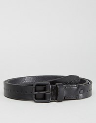 Selected Homme Belt In Leather Black