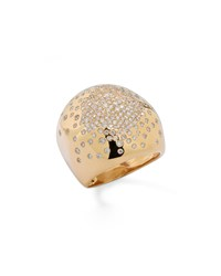 Stardust Gold Radiating Diamond Dome Ring Ippolita