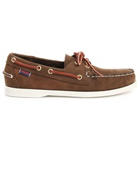 Sebago Docksides Brown Nubuck Deck Shoes