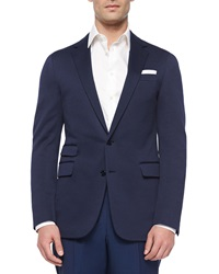 Ralph Lauren Black Label Daniel Solid Two Button Sport Coat Navy